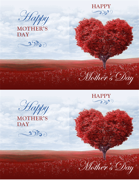 Tree of hearts Mother's Day card