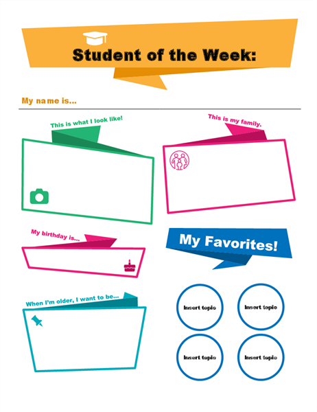 Student of the week poster