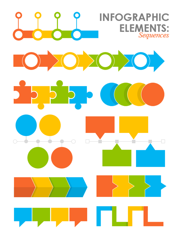 Sequences infographics images