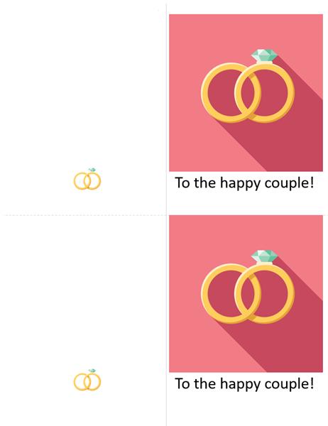 Engagement wedding celebration card