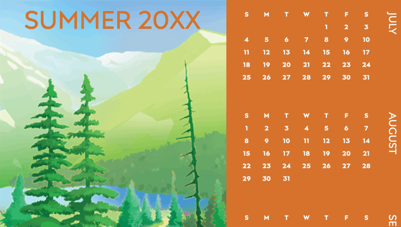 Wilderness seasons quarterly calendar