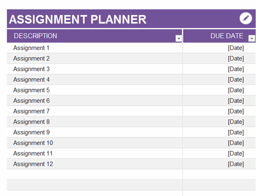 Assignment planner