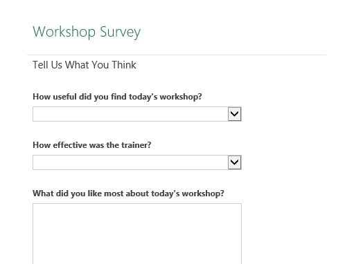 Workshop survey