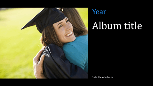 Graduation photo album, black (widescreen)