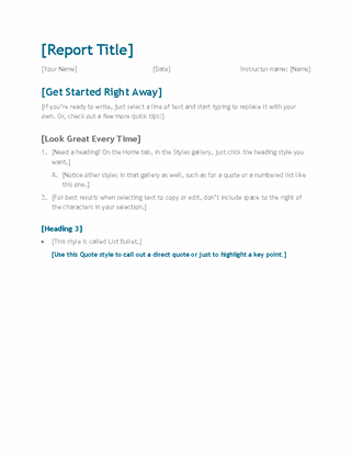 Simple student report