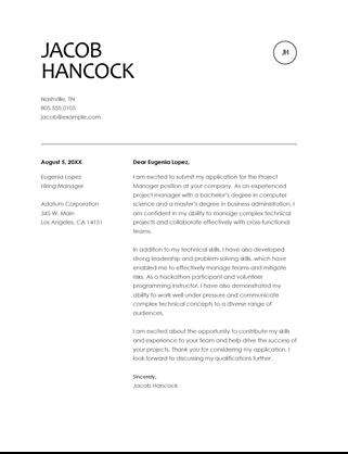 Resume Cover Letter Violet