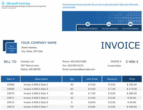 Sales invoice tracker with Microsoft Invoicing