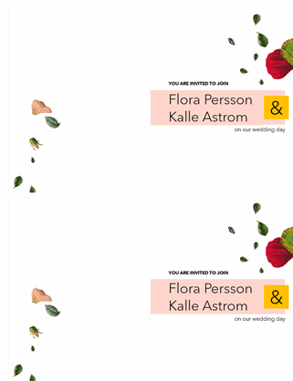 Foral wedding invitation
