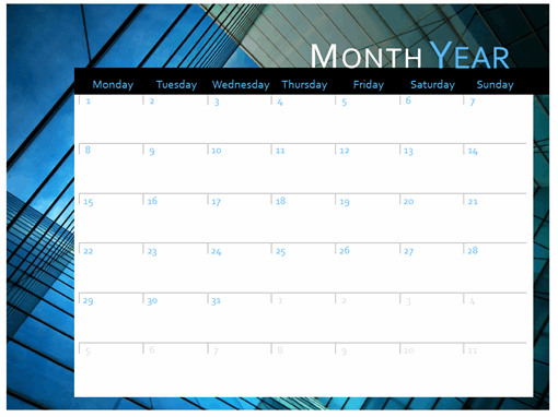 Calendar (Mon-Sun)