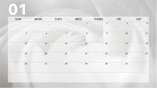 Floral monthly calendar