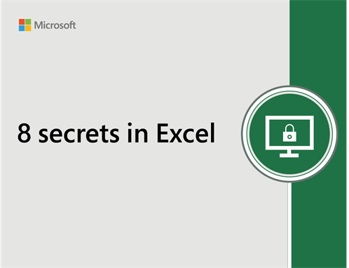 8 secrets in Excel
