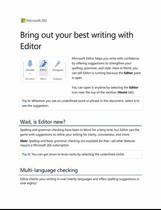 Editor in Word Tutorial