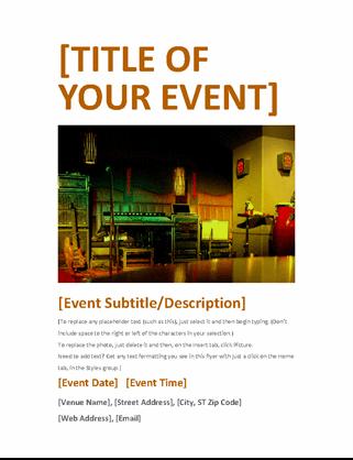 Event flyer (orange)