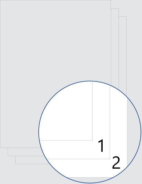 Numeración de portada (inferior)