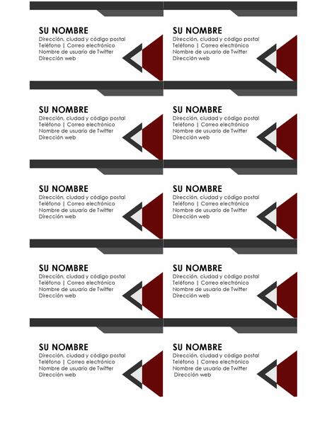 Tarjetas de presentación con ángulos modernos