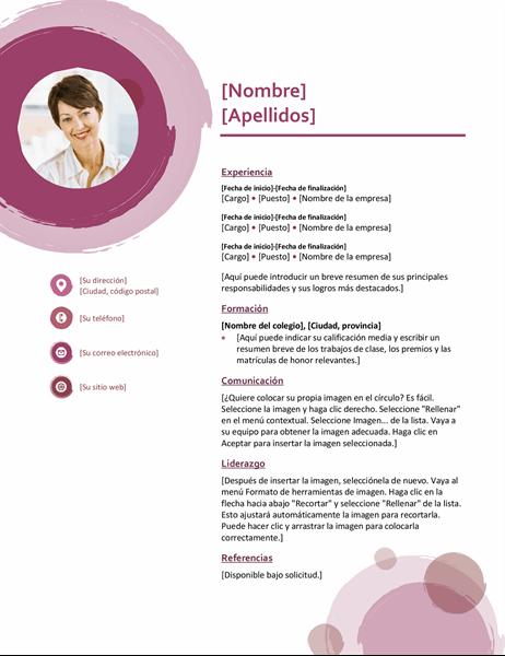 Currículum vítae conjunto rosa