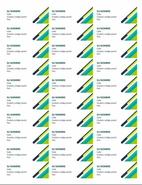 Etiquetas de cápsulas modernas (30 por página)