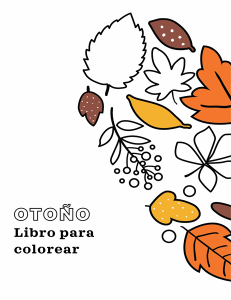 Libro de colorear de otoño
