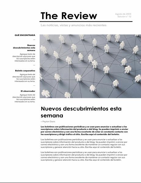 Boletín corporativo