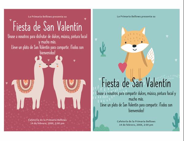 Folleto del Día de san Valentín para niños