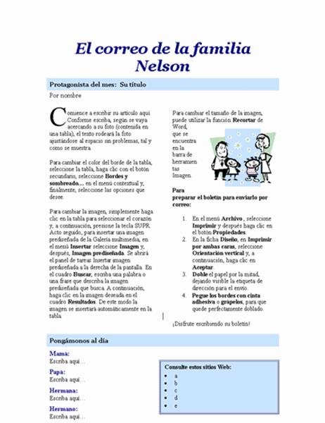Boletín familiar (2 páginas)