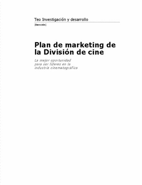 Informe empresarial (tema Moderno)