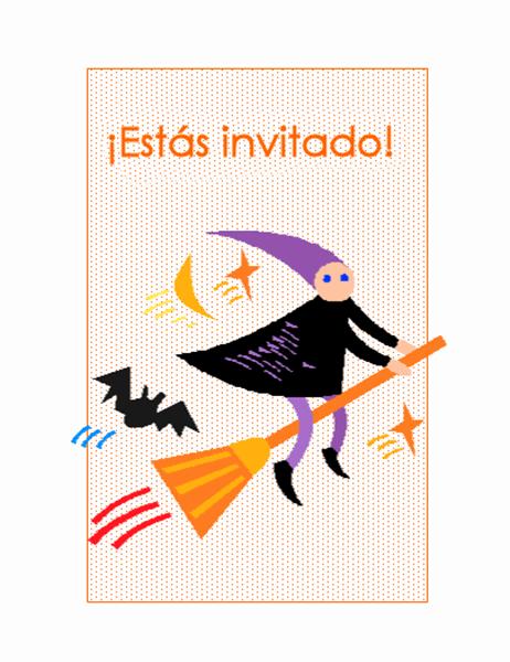 Invitación de fiesta de Halloween