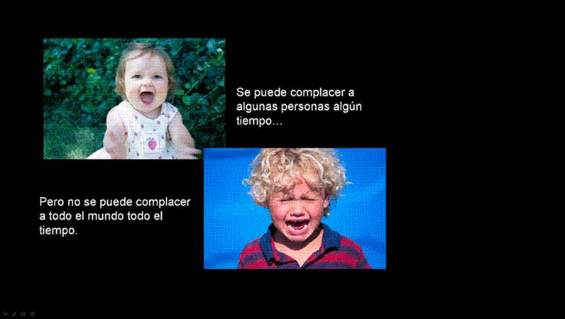 Diapositiva de imagen No se puede contentar a todo el mundo