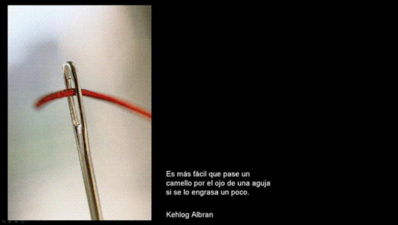 Diapositiva de imagen El ojo de la aguja