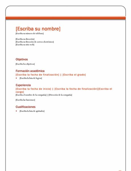 Currículum vitae (tema Equidad)