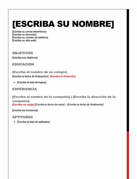 Currículum vítae (diseño esencial)