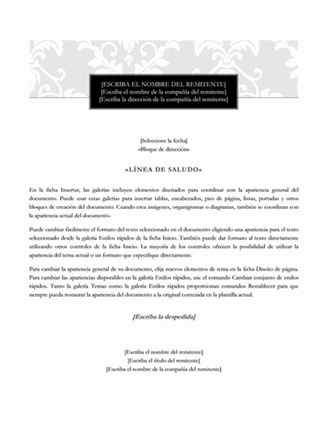 Carta de combinación de correspondencia (diseño de etiqueta)