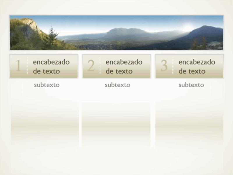 Imagen con tres columnas de texto