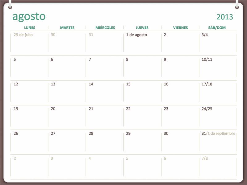 Calendario académico 2013-2014 (agosto)