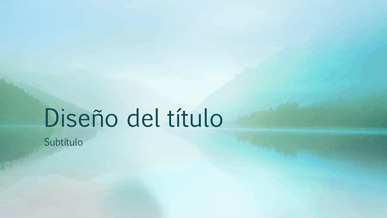 Presentación de la serenidad de la naturaleza (pantalla panorámica)