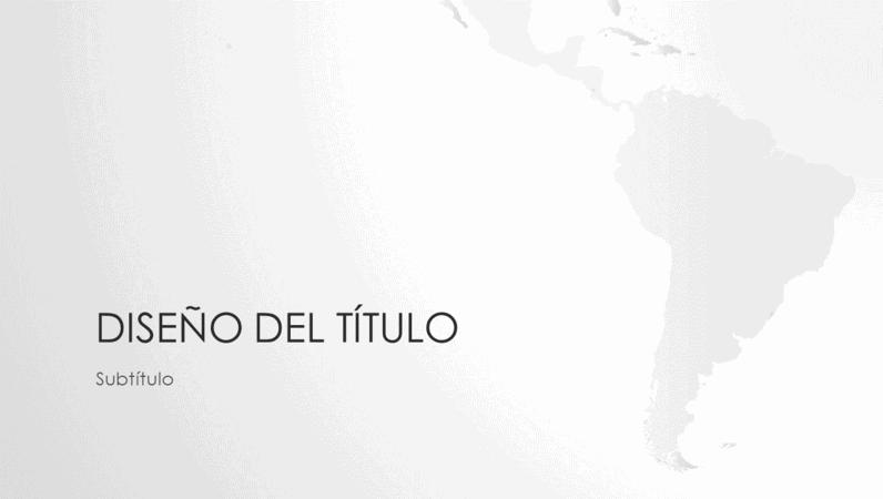 Serie de mapas del mundo, presentación del continente sudamericano (panorámica)