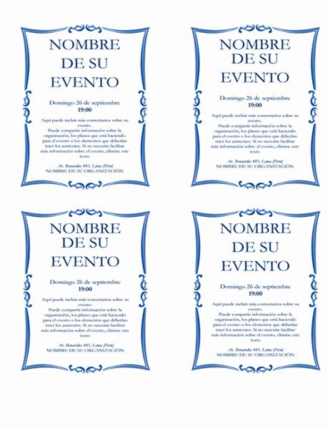 Prospecto de evento (hasta 4)