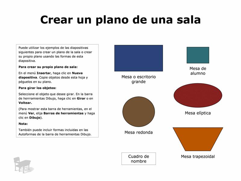 Plano de una sala