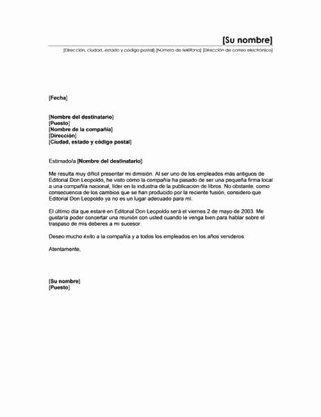 Dimisión a causa de una fusión (Tema minimalista)