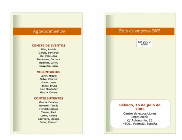 Calendario de eventos empresariales