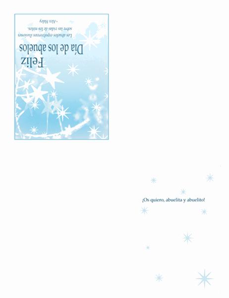 Tarjeta del día de los abuelos (diseño de polvo de estrellas)