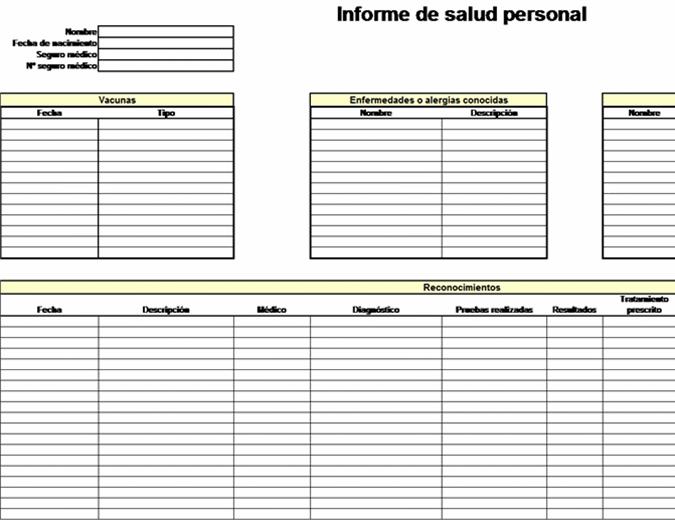 Informe de salud personal
