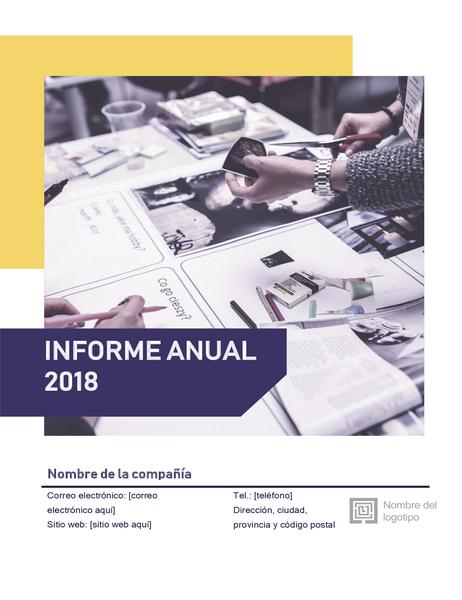 Informe anual (diseño Rojo y negro)