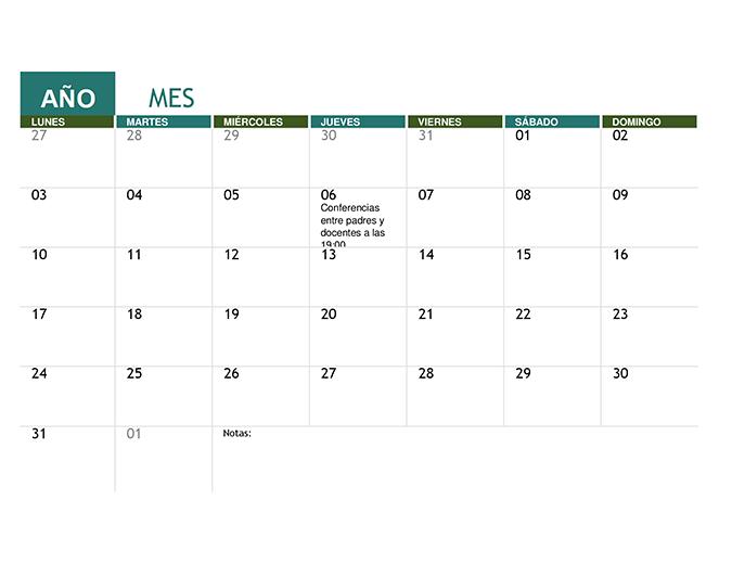 Calendario académico