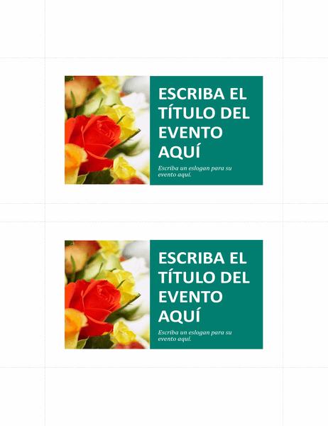 Postales promocionales (2 por página)
