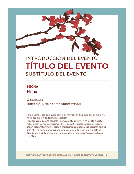 Folleto de un evento de primavera