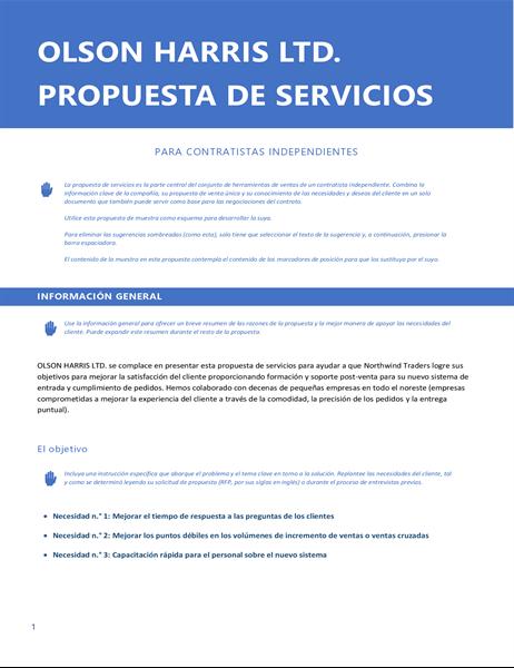 Propuesta de servicios