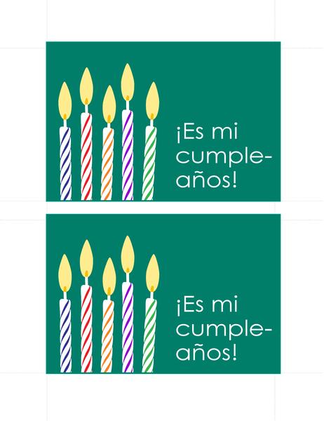Postales de invitación de cumpleaños (2 por página)