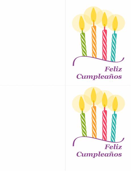 Tarjetas de cumpleaños (2 por página)