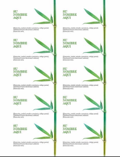 Tarjeta de presentación: bambú
